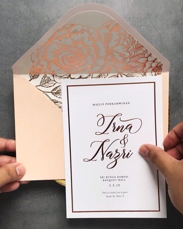149 Likes 5 Comments Kad Kahwin Wedding Invitations Elloprops On Instagram Perfect Pairing To An Wedding Invitations Kad Kahwin Wedding Rose Gold Theme