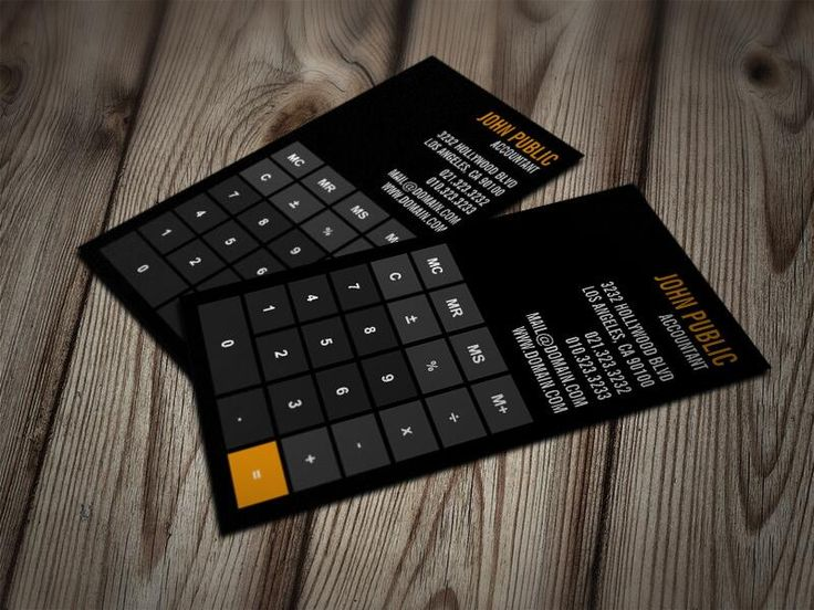 great business card idea for accountants