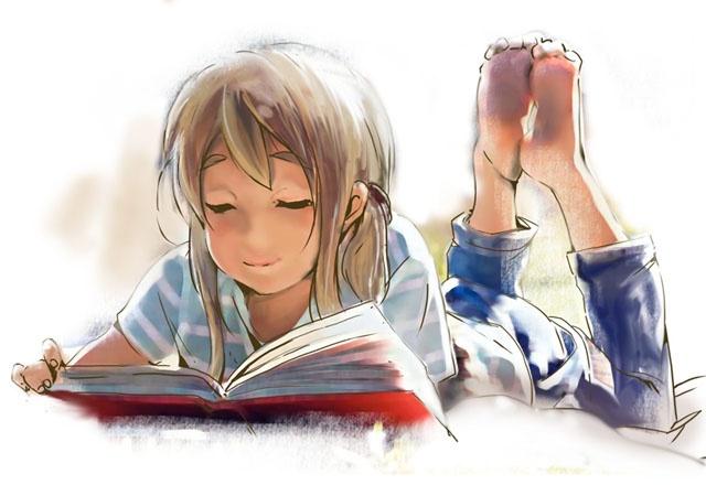 Anime Girl reading