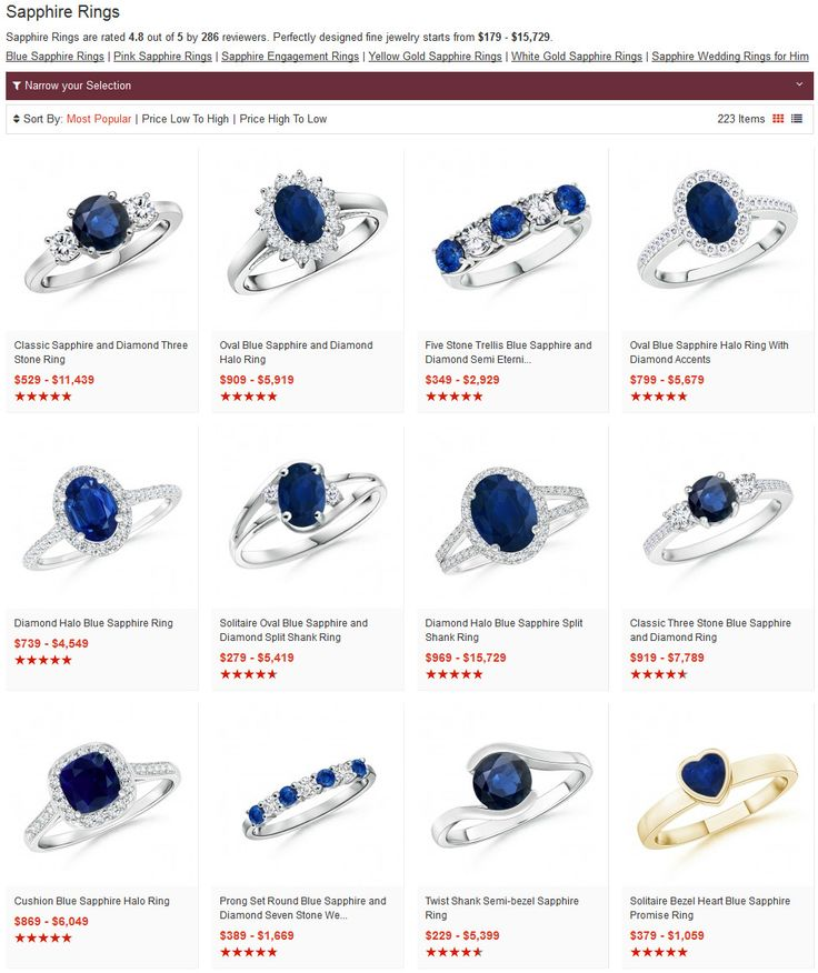 Whether locally or online, find a good, trusted store. In local stores, the collection could be limited. When you shop online, an array of choices is available. E-tailers like Angara.com are a good option to buy a stunning sapphire ring.