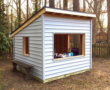 Best 25 playhouse plans ideas on pinterest playhouse for Simple outdoor playhouse plans