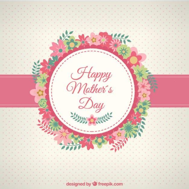 Tarjeta de feliz día de las madres con flores
