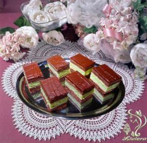 Čokoládovo-pepermintové rezy