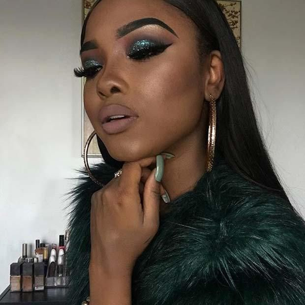 23 Glitzy New Year S Eve Makeup Ideas 12 Glam Green Eye Makeup
