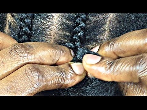 Instructional video for cornrows adding in hair. #154. SUMMER 16, SLIM THICK BRAIDS - YouTube