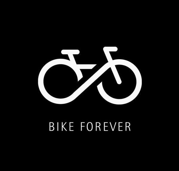 Simple contemporary logo design Bike Forever   #branding #design   pinned by www.amgdesign.nz