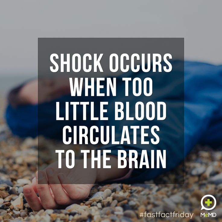 #FastFactFriday: Medical shock may result from trauma, heatstroke, blood loss, an allergic reaction, severe infection, poisoning, severe burns or other causes.  When a person is in medical shock, his or her organs aren't getting enough blood or oxygen. If untreated, this can lead to permanent organ damage or even death.  If you suspect a person is in medical shock, call 911 or your local emergency number.