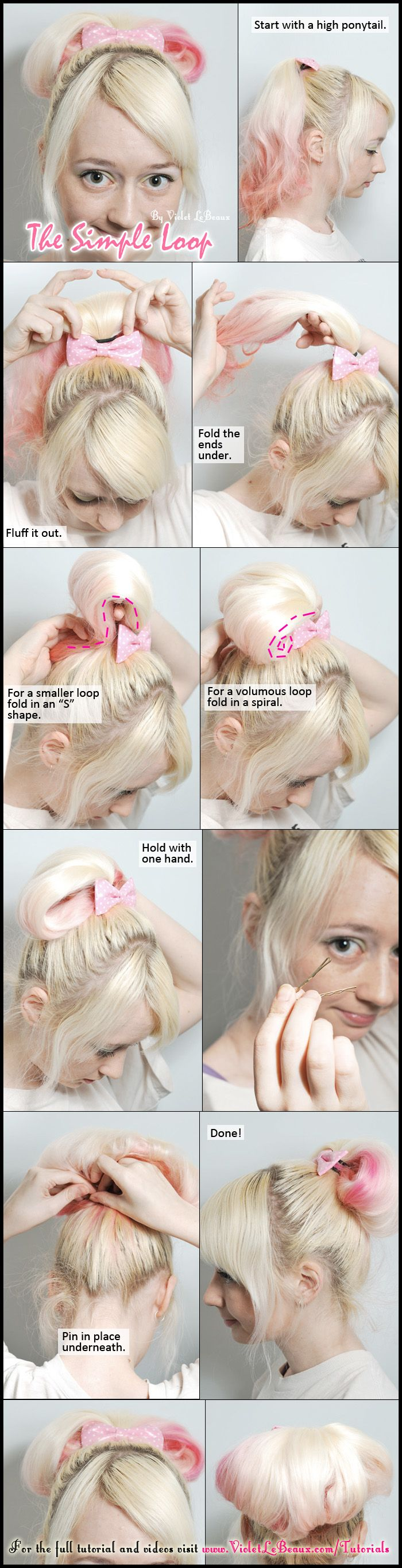 Simple tutorial for a very simple lazy day cute hair style ^_^    Full original post over here with more information:  violetlebeaux.com...