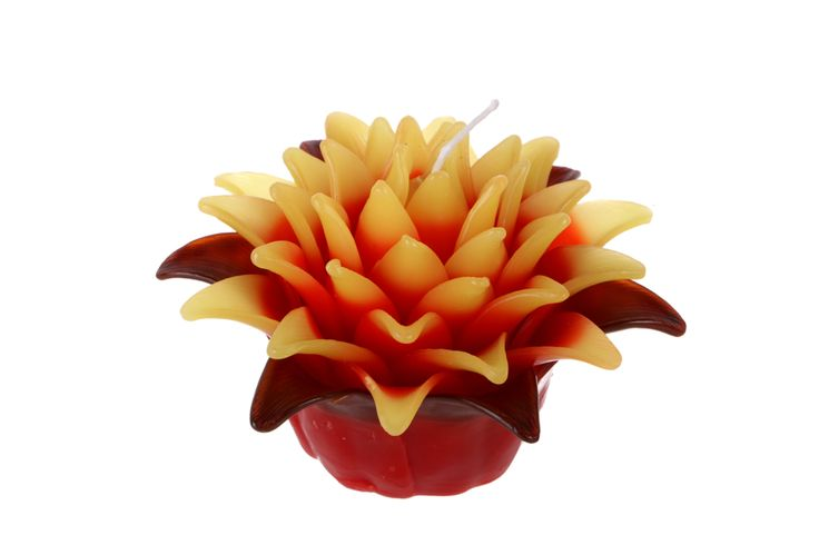 Pineapple flower cabndle