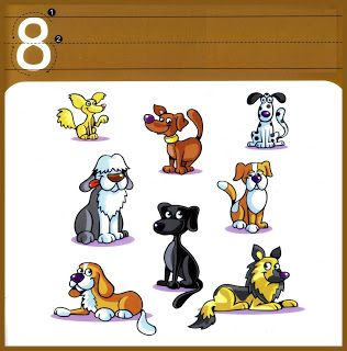 Maestra de Infantil: Números del 1 al 10 a color. Cardinal y grafía.