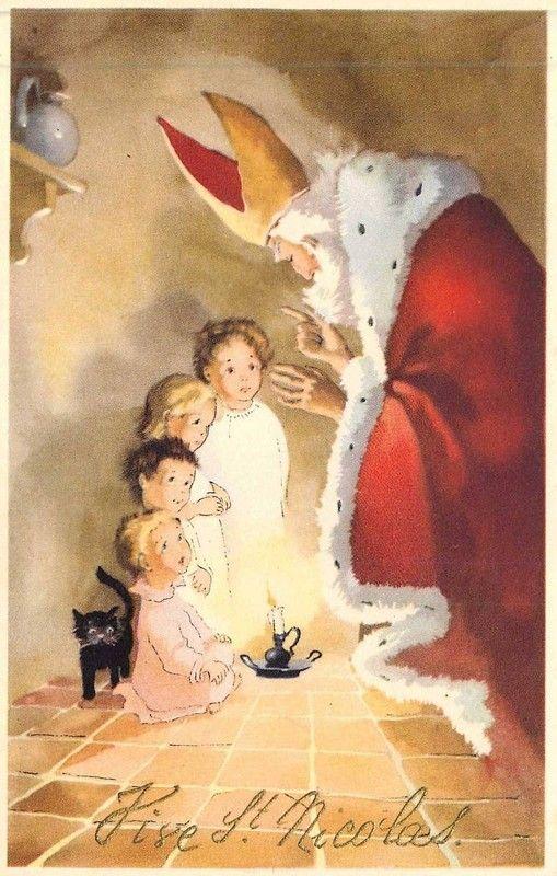 Carte ancienne de Saint Nicolas...perfect to wish Merry Xmas from Zizzz. www.zizzz.ch