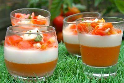 tomates mozarella pannacotta | Invitations gourmandes