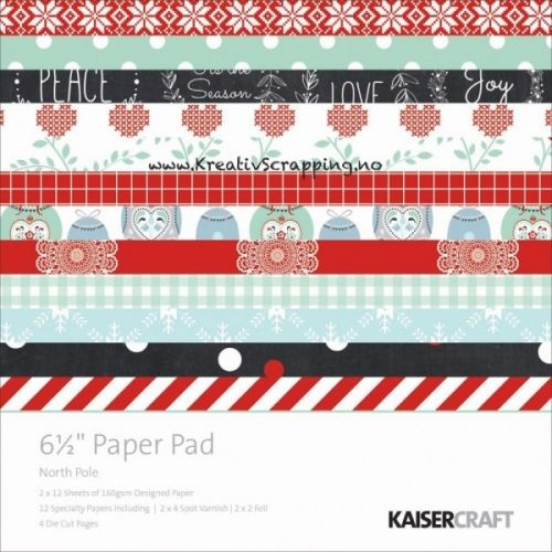KAISERCRAFT - PAPER PAP PP950 - NORTH POLE - 6X6  http://www.kreativscrapping.no/products/kaisercraft-paper-pap-pp950-north-pole-6x6
