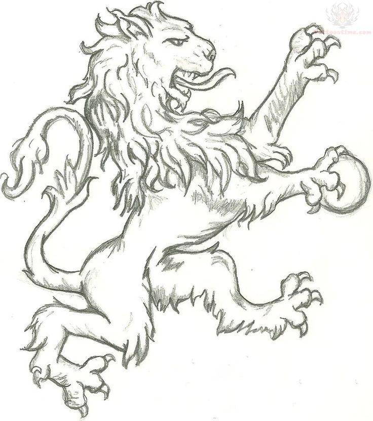 Scottish Lion Tattoo: 76 Best RAMPANT LIONS Images On Pinterest
