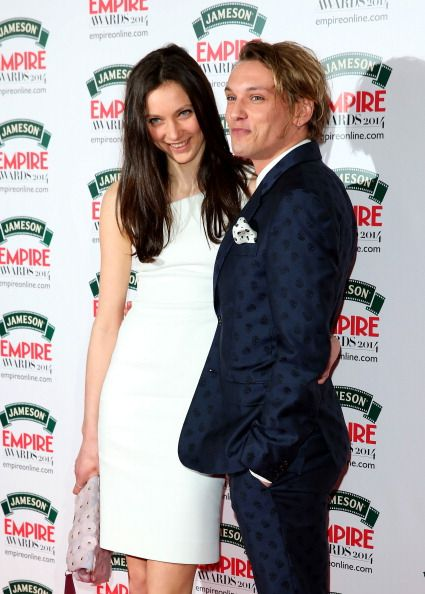 matilda lowther and jamie campbell bower - Jamie Campbell Bower & Matilda Lowther at the Jameson Empire Awards 2014