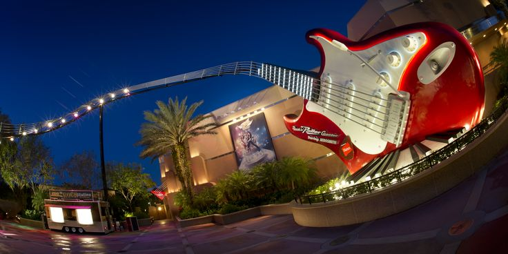 Blast off in a super-stretch limousine through the freeways of Los Angeles on Rock 'n' Roller Coaster Starring Aerosmith, located in Disney's Hollywood Studios at the Walt Disney World Resort