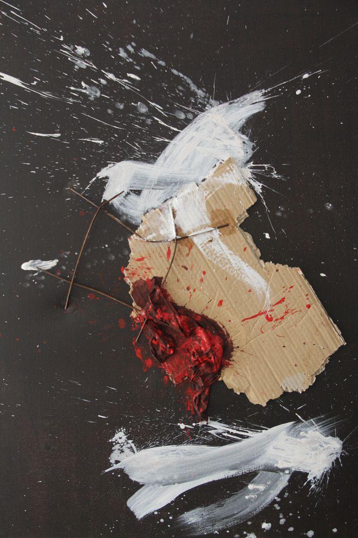 My paisson Mixed technique on canvas 100x80 cm 2006 © Karino Amade