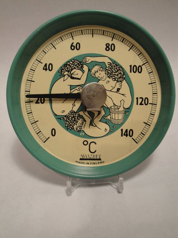 Valmet Made in Finland Sauna Thermometer by Lifeinmommatone, $15.75