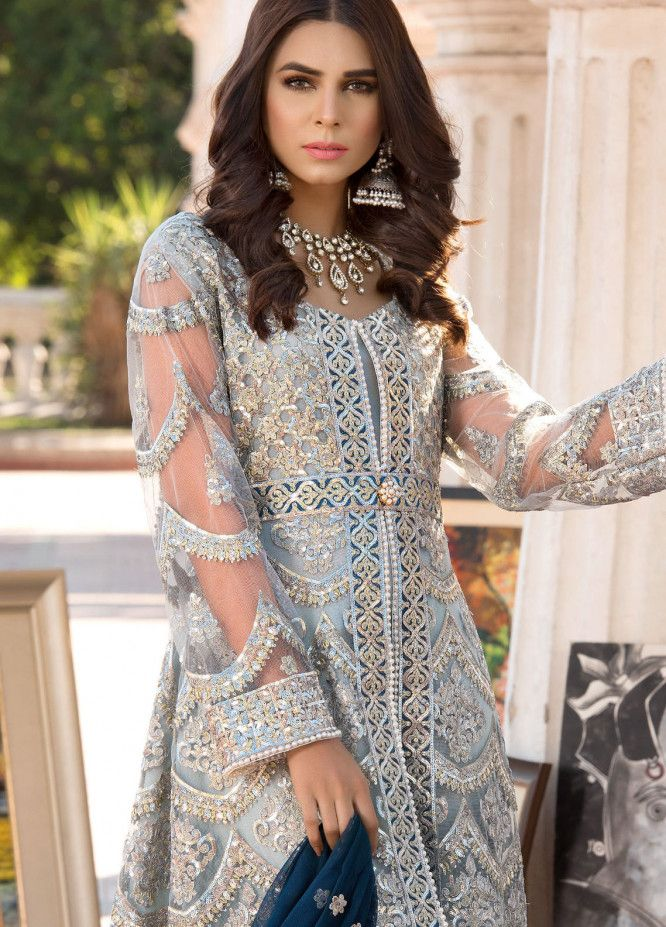 09b86fc475 Elaf Embroidered Chiffon Unstitched 3 Piece Suit ELF19C 08 - Luxury  Collection