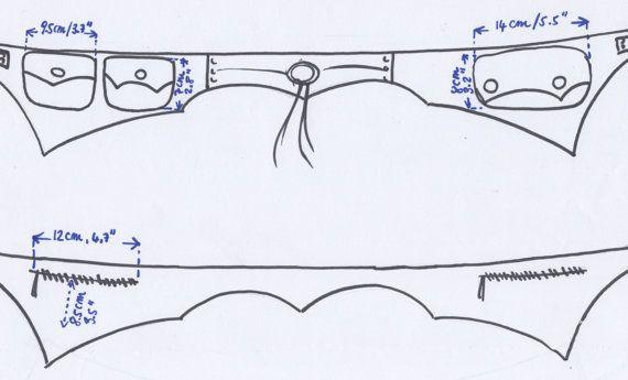 BLACK LEATHER Utility pocket belt fanny pack hip by GekkoBoHotique
