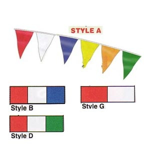 "60' Pennant Banner (4 colour options) 9"" x 12"" panels"