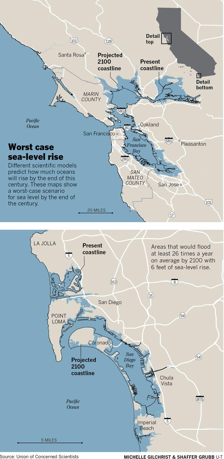 Severe, chronic flooding will devastate California coast as sea levels rise, experts say