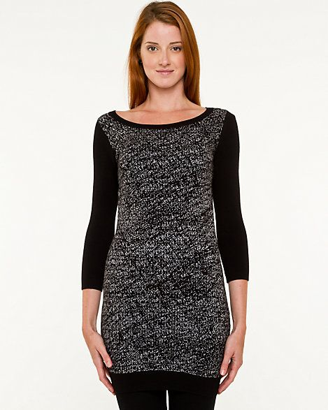 LE CHÂTEAU: Viscose Blend Abstract Print Sweater