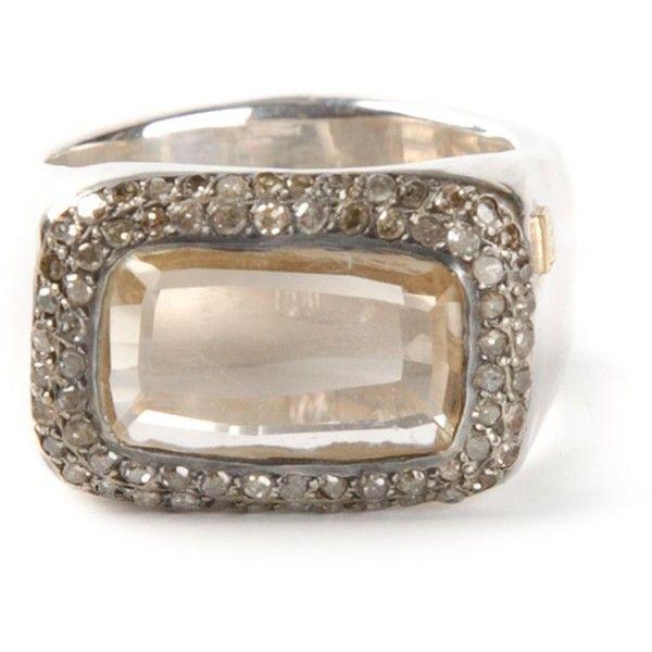 Rosa Maria pave diamond and sapphire ring - Metallic c4Vwoz