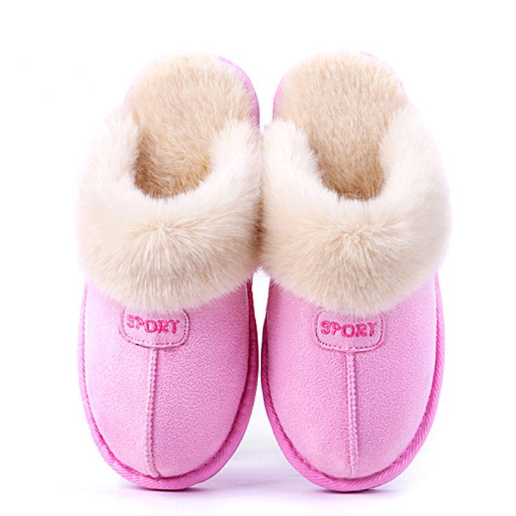 Winter Shoes Men And Women Couples Plush Cotton Slippers Lovely Home Warm  Slippers Anti-skidding