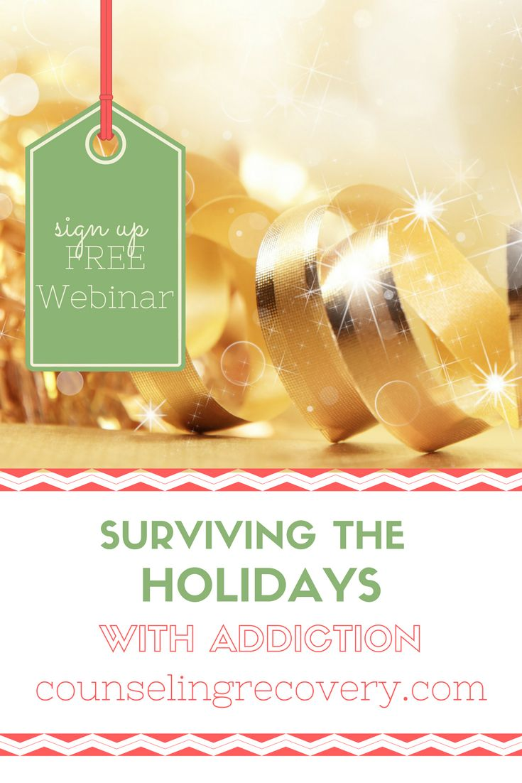 Learn how to take care of yourself around the addiction and the tools to help manage old hurts that lead to resentment. In this free webinar you will learn what codependency is and how to use 12 step principles to detach with love and enjoy the holidays! Click the image to save your spot. Space is limited.