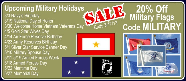 Military Flags on sale