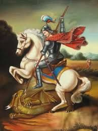 (28) 494 – Gelasio I delimita el poder temporal del espiritual y canoniza a San Jorge. San Jorge es un soldado romano natural de Capadocia, en la actual Turquía, mártir y más tarde santo cristiano. Se le atribuye haber vivido entre 275 ó 280 y el 23 de abril de 303. Es considerado pariente de santa Nina.