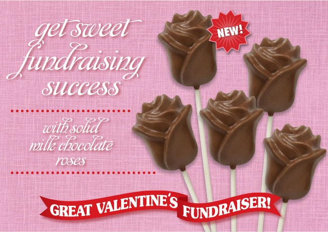 beautiful chocolate rose valentines fundraising