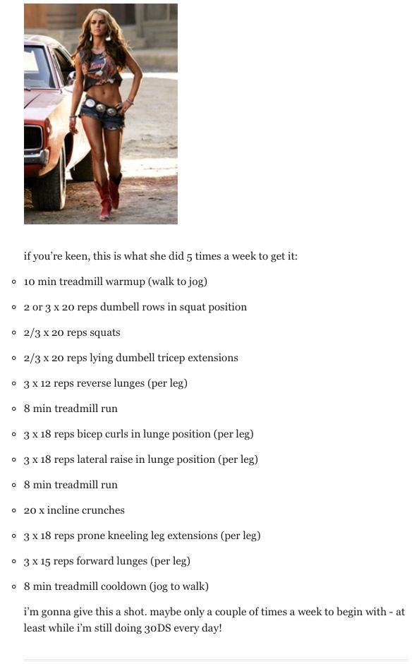 Jessica Simpson workout, my goal to look like this by summer!