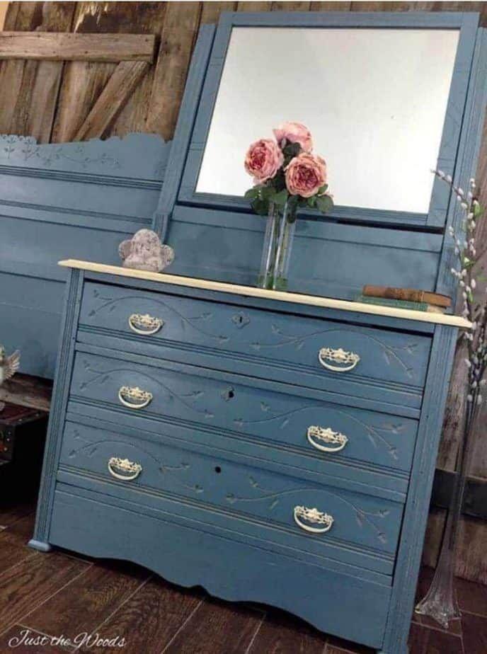 Blue Painted Furniture, Blue Painted Bedroom Furniture Ideas