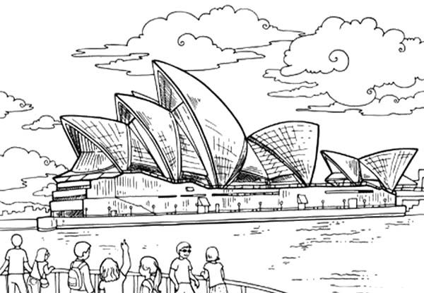 People Happy Australia Day Coloring Page