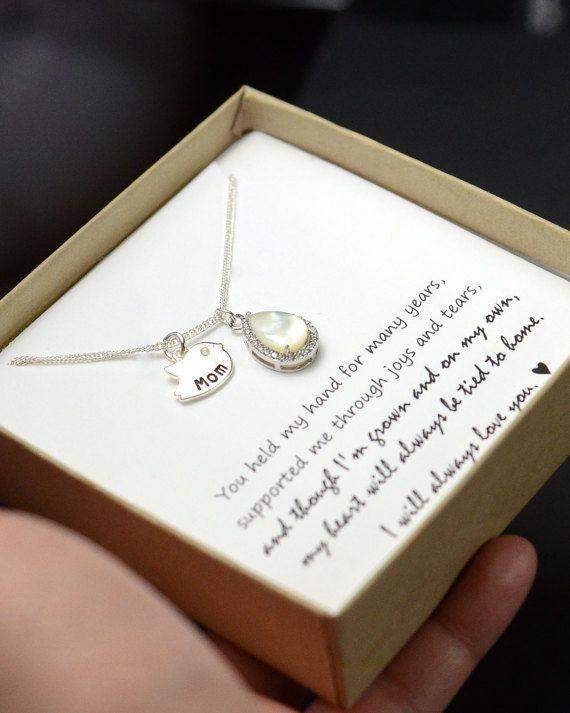 Geschenk für Mama Halskette Mutter von Tochter