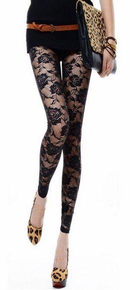 Women's Floral See-Through Leggings