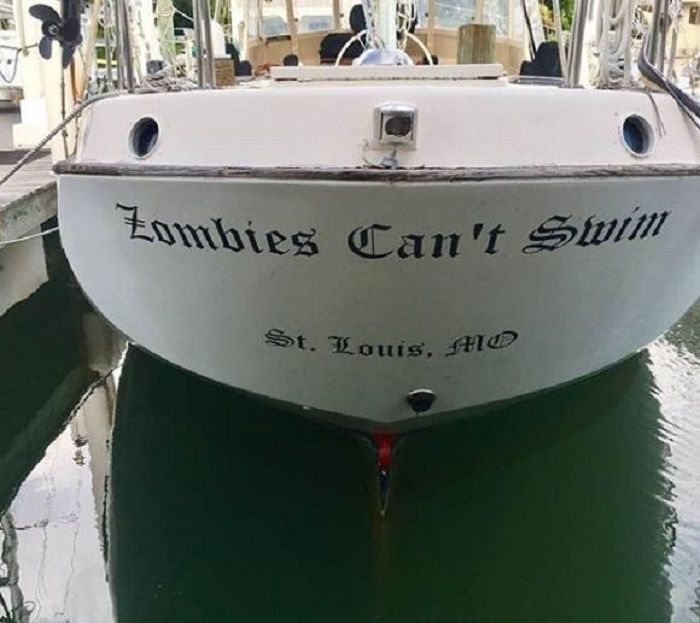 75 Photos Of Boats With Names That A Dad Somewhere Has Patted Himself On The Back About Funny Boat Names Boat Humor Boat Names