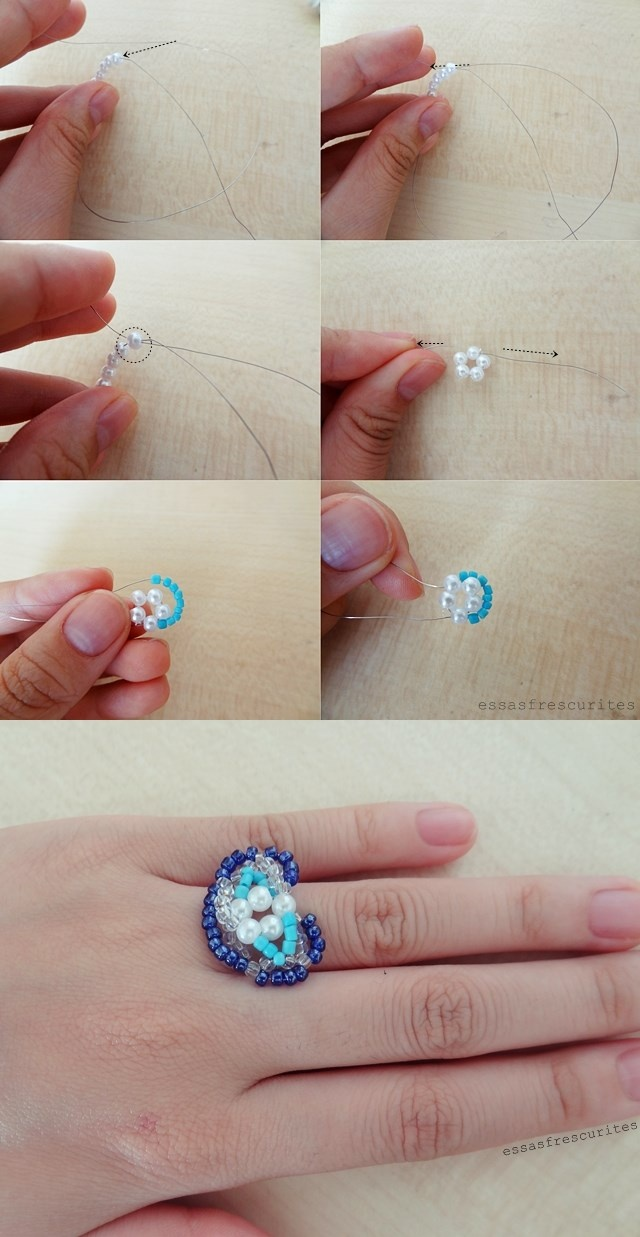 seed beads ring