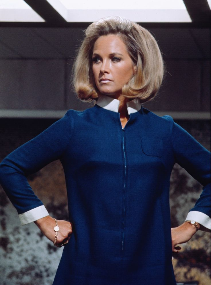 Wanda Ventham (mum of Benedict Cumberbatch) as 'Colonel Virginia Lake' in Gerry Anderson's 1970 British hit programme 'UFO' - 26 episodes, including the pilot, were produced over the course of more than a year, with a five-month production break caused by the closure of the MGM-British Studios at Borehamwood, where the show was initially filmed.