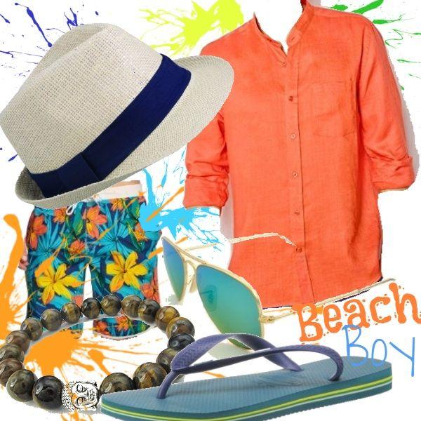 Un outfit  che sa di ferie e di vacanze, che rimanda  a spiagge dorate e mari tropicali... Costume e camicia  dalle tonalità caraibiche, infradito, occhiali da sole specchiati, bracciale in pietra e  panama, il must have dell'estate. Sarete pronti per la tintarella!
