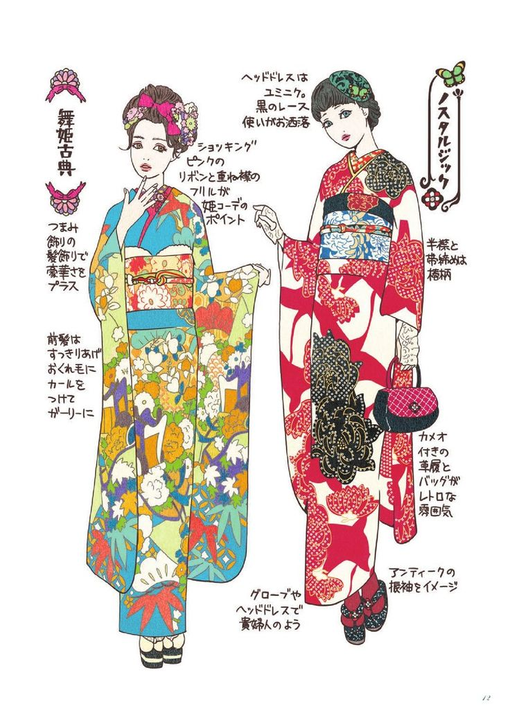2017 how to book /coordinate label /kimono hearts