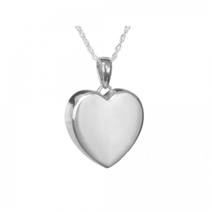 Perfect Heart Silver Pendant Urn