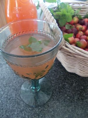 No, it's not pink lemonade but this delicious fruit punch was made from the fruit of a tree in our garden that has produced an abundant ha...