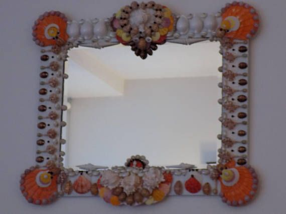 Our mirrors are one of a kind creations utilizing natures sea shell jewels gathered from oceans around the world The shells utilized in the creation of this mirror were retrieved from the floor of the various oceans. Shells come from Philippines,Thailand, Africa, ABC Islands, India,