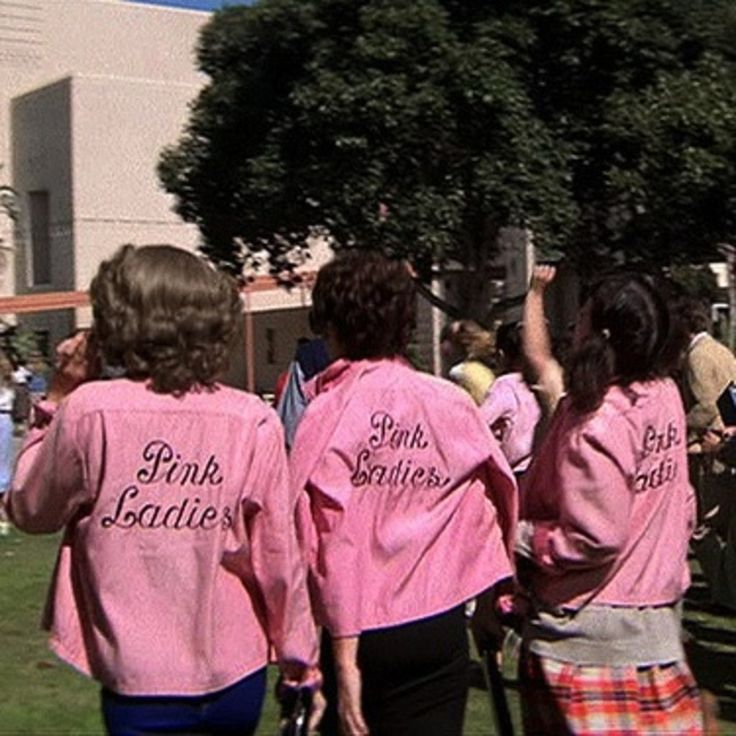 Pink ladies - I still haven't gotten over the fact that not once, not! once!, did we break out into spontaneous choreographed dancing in high school.  It was the thing I looked forward to most.  No wonder I couldn't wait to get out...