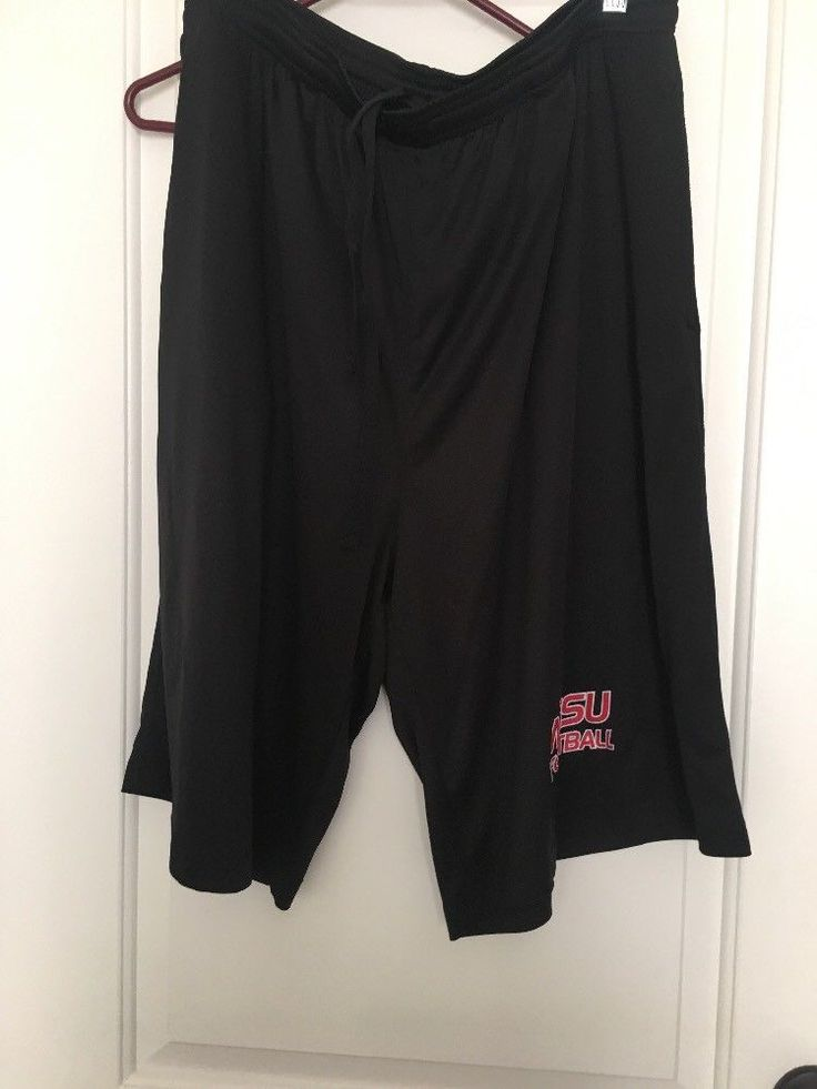 BAW Winston Salem State University Football Men's Shorts Sz 2X Black Athletic  #BAW #Shorts