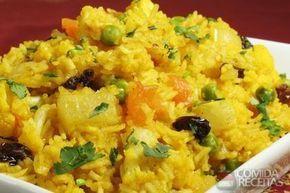 Receita de Arroz com açafrão e passas em receitas de arroz, veja essa e outras receitas aqui!