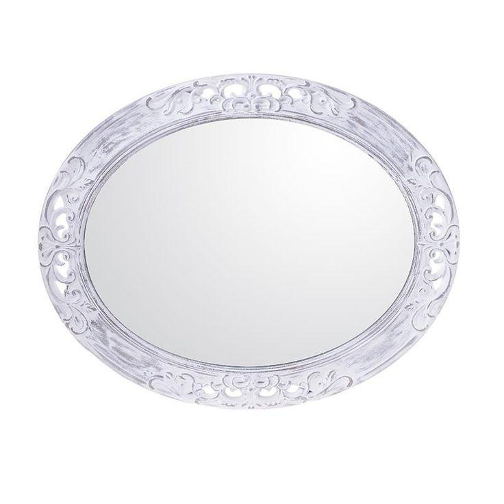 Καθρέφτης Τοίχου Λευκός- Γκρι